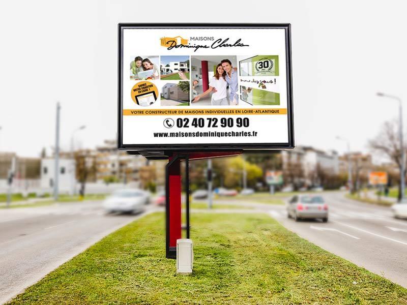 affichage urbain panneau