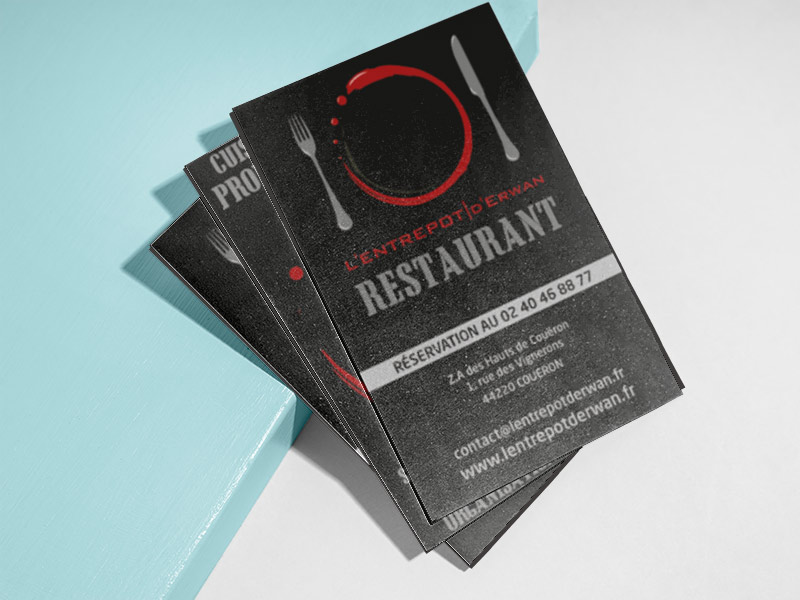 carte visite restaurant