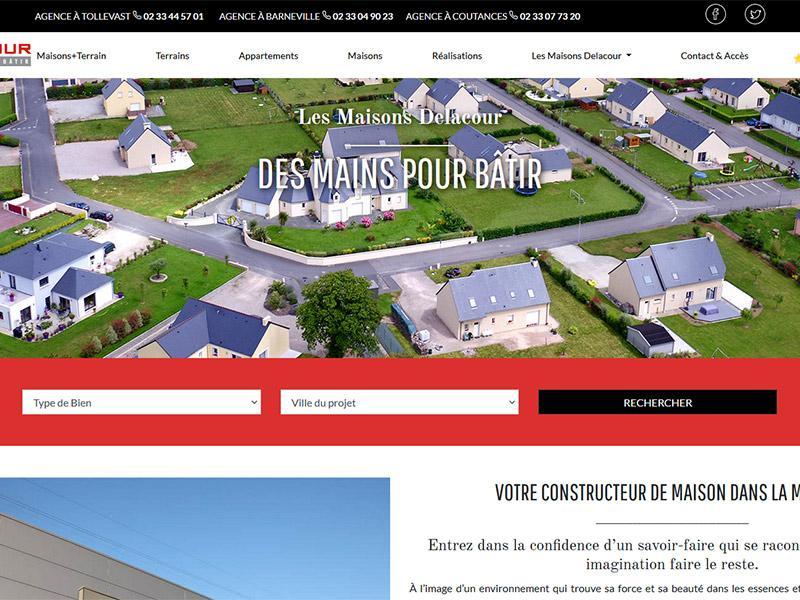 Site Internet Maisons Delacour Manche
