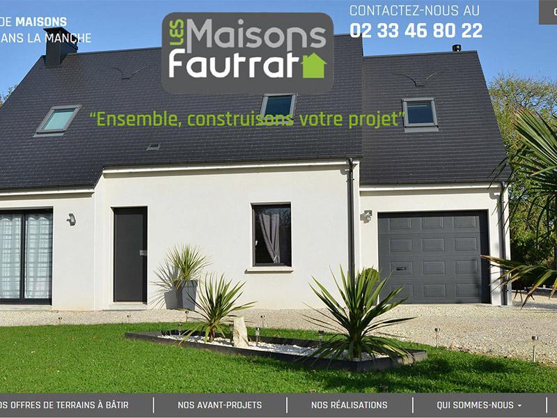 Site internet maisons Fautrat