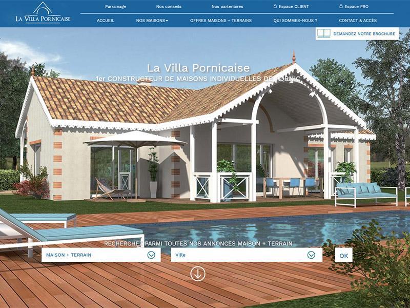 site internet La Villa Pornicaise